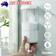 Soap Dispenser Hand Wash Shampoo Shower Liquid Manual Bathroom Wall Mount 500ml