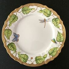 ANNA WEATHERLEY porcelain dinner plate IVY GARLAND 24 K gold - list $384