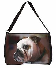 Bulldog Dog Large Black Laptop Shoulder Bag School/College, AD-BU28SB