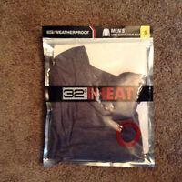 NWT Weatherproof 32 Degree Heat Mens L/S Crew-Heather Navy-Size Small