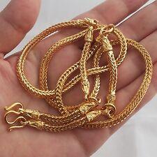 5 Hooks Pillar Snake Bone Gold Plated Necklace Phra Thai Buddha Amulet Hanging .