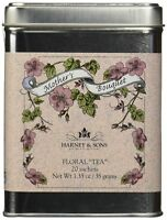 Harney & Sons Caffeine Free Herbal Mother's Bouquet Floral Tea Tin 20 Sachets...
