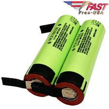 Panasonic NCR18650B 3.7V 3400mah Battery 18650 Japan w/ Pre-Welded TABS 2PCS