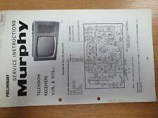 Vintage Manual BUSH Television Model V179U V173CU
