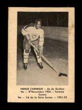 1951 Laval Dairy QSHL #16 Herbie Carnegie  G X1810654