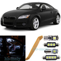 For Audi TT MK2 2006-2014 LED Interior Premium Kit SMD Bulbs White Error Free
