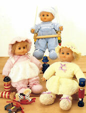 3 DOLLS OUTFITS 16 INCH DOLL IDEAL TINY TEARS KNITTING PATTERN BY EMAIL (796)