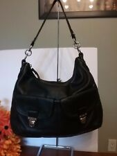 Coach 22423 Poppy Avery Pebble Leather Hobo Crossbody Shoulder Bag BLACK