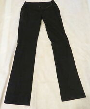 NWT $258 CARA LOTTI Stretchy Skinny Slim Black Satin Trim Pants FRANCE 38 S 4/6