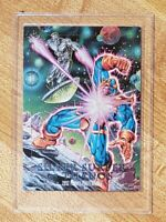 Silver Surfer vs Thanos #2-D Marvel Masterpieces 1992 Spectra-Etch Hologram Card