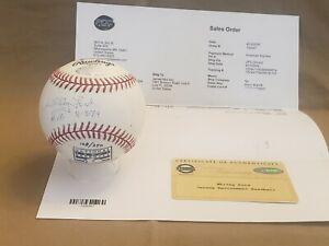 """Whitey Ford Signed Baseball w/""""HOF 74"""" Certificate."""