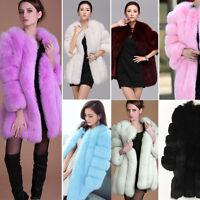 Talla Especial Moda Para Mujer Piel Artificial Chaqueta de invierno abrigo parka