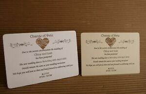10 CHANGE THE DATE CARDS WEDDING POSTPONEMENT NOTICE WITH ENVELOPES