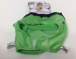 NWT RUBIES PET SHOP BOUTIQUE MONSTER GREEN  HAT COSTUME FOR DOGS SMALL/MEDIUM