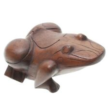 THAI MADE COLLECTION WOODEN FROG FORM BOX WIT HINGED OPENING