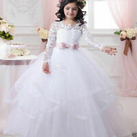 Wedding Flower Girl Dresses HOT Communion Party Prom Princess Pageant Bridesmaid