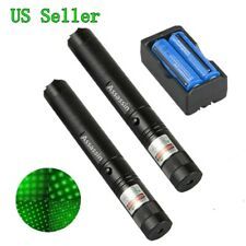 New listing 2x 900Mile 532nm Rechargeable Assassin Green Laser Pointer Pen Star Beam+Charger