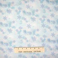 Christmas Fabric - Snowflake Wonder Light Blue Toss - Elite YARD