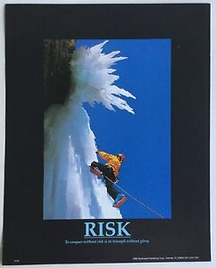 5x Mountain climbing motivational Inspirational RISK Northwest Publishing Poster