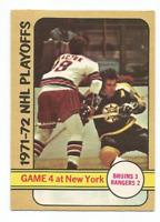 1972-73 O-Pee-Chee #38 Playoff Game #4 Boston Bruins *