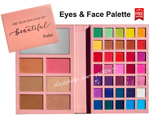 Prolux Eyes & Face Makeup Palette, Pigmented Colors for Eyes, Bronze & Blusher