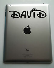 1 x iPad Personalised Name Decal Sticker Curly Waltz Custom Name Laptop Tablet