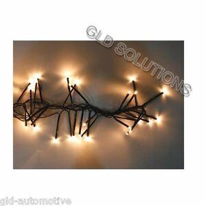 GHIRLANDA Nera LUMINOSA CON 180 LED BIANCHI decorazione casa interni esterni