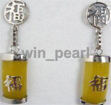 Elegant Vintage Ladies yellow jade  Earrings Women's Ear Wear Earrings Popular