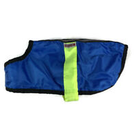 Kong Dog Size Small Medium Jacket Coat Reflective Plush Lined Waterproof Blue
