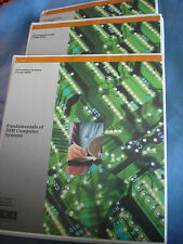 Vintage 3 part fundamentals of IBm computer systems course notes and binders