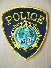 Patches: CORPORATION OF NEWPORT NEWS VIRGINIA POLICE PATCH(New,approx. 4.14x3.12