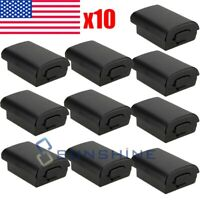 10x Black Replacement Battery Cover for Xbox 360 controller - Case, Shell, Pack