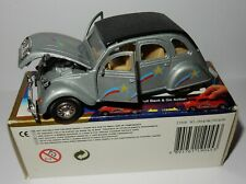 rare WELLY 1/34 123 MM CITROEN 2CV GRISE moteur à friction #9046 IN box