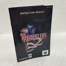 ⭐Resident Evil 2 Nintendo 64 N64 Instruction Booklet Manual ONLY! NO GAME!⭐👀