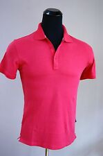 New Authentic Hugo Boss Red Coral  Regular Fit Cotton Jersey Polo Shirt L size