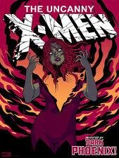 MONDO Dark Phoenix print poster by Becky Cloonan -Jean Grey Uncanny X-Men Marvel