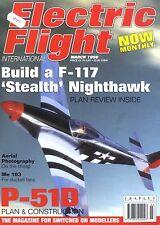 ELECTRIC FLIGHT MAGAZINE 1998 MAR F-117 STEALTH NIGHTHAWK, ME 163 KOMET