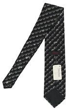 NEW Brioni Silk Tie!  *Unique Black & Gray Halloween Pumpkin(?) Design*  Italy