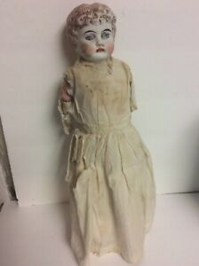 11 in Antique China Shoulder Head  light brown hair blue eyes