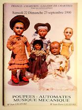 catalogue vente enchères Chartres POUPEES AUTOMATES  09/1991 MUSIQUE MECANIQUE