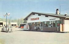 Sherman Mills ME Restaurant & Motel Katahdin Valley Texaco Gas Station Postcard.