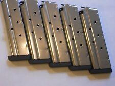 """1911 .40 cal. mag, magazine,mags, 1/4"""" removable base  5 mags,8 shot, stainless"""