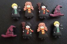 8 x HARRY POTTER SHOE CROC CHARMS FOR CROCS AND JIBBITZ WRISTBANDS