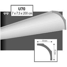 28 Meter Styroporleisten Zierprofile Stuckprofile Stuckleiste Dekor 70x75mm  U70