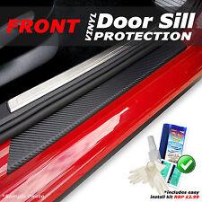 Fits Nissan Juke 2010+ 2PC Black Carbon Vinyl Door Sill Protectors