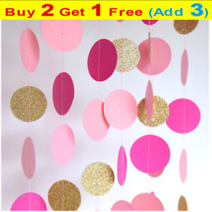 2m Round Paper Garland  Circle Dots Hanging Decor  for Birthday Party Wedding