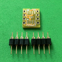 10pcs Dual SOIC8 SOP8 to DIP8 Adapter PCB Board +PIN for Mono Opamp OPA627 AD797