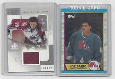 JOE SAKIC  ROOKIE CARD,  AND JERSEY CARD LOT #3
