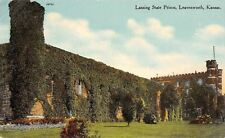 Leavenworth Kansas~Lansing State Prison~Ivy Covered Castle Towers~1910 Postcard