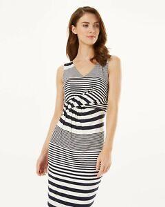 BNWT Phase Eight Sadie Blue & White Stripe Jersey Wiggle Dress UK 16 EU 46 US 12